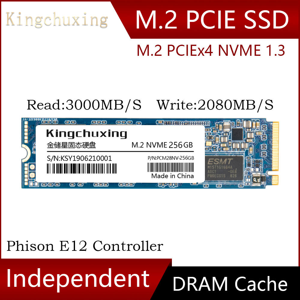 M2 SSD M.2 NVME PCIe Interface Phison E12 256GB Internal Solid State Hard Drive Disk HDD For Laptop With Dram Cache Kingchuxing