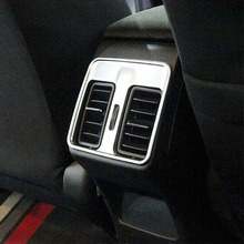 For Honda City Sedan 2014 2015 2016 Accessories ABS Chrome Car Back Rear Air Condition Outlet Vent Frame Cover Trim  Car Styling недорого