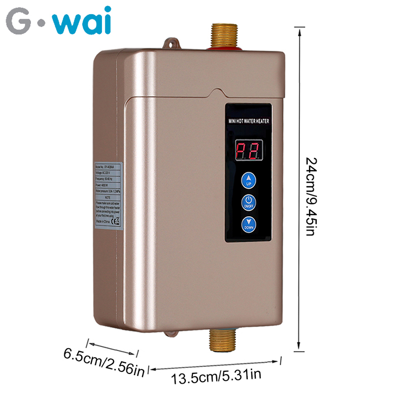 110V/220V Electric Water Heater Without Water Tank Bathroom Kitchen Instant Type Smart Faucet Fast Heating Shower US / EU Plug