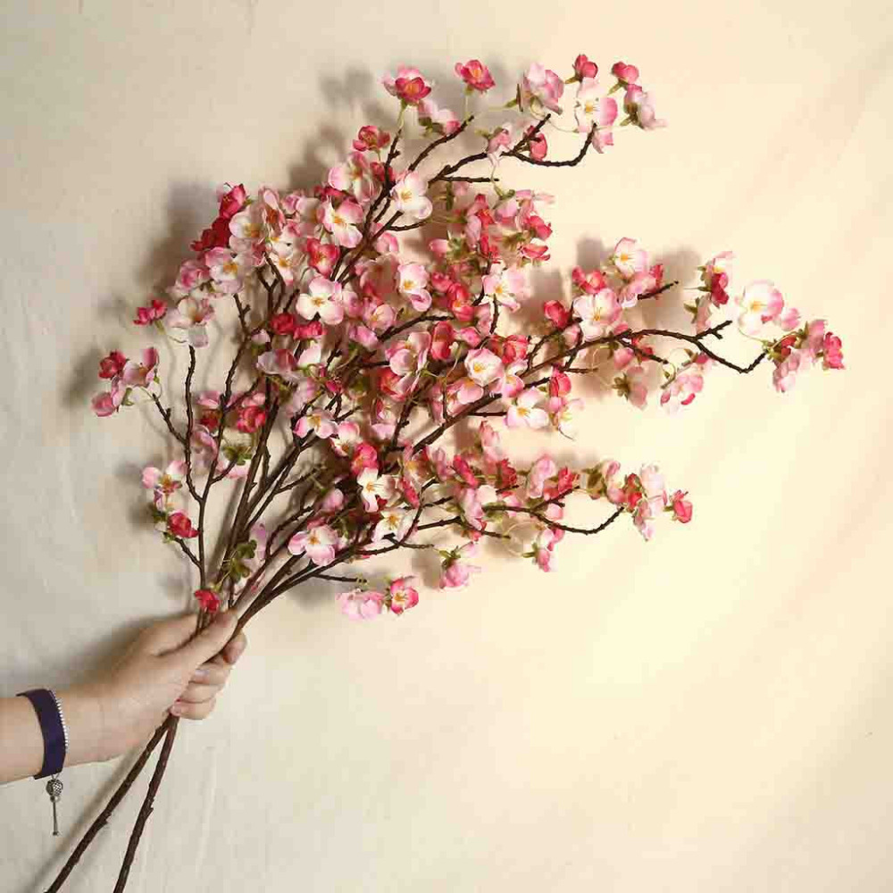 Artificial Flower Branch Cherry Hot Sale Spring Plum Peach Blossom Branch  Fake Silk Flower Tree House Party Wedding Decor S5|Artificial & Dried  Flowers| - AliExpress