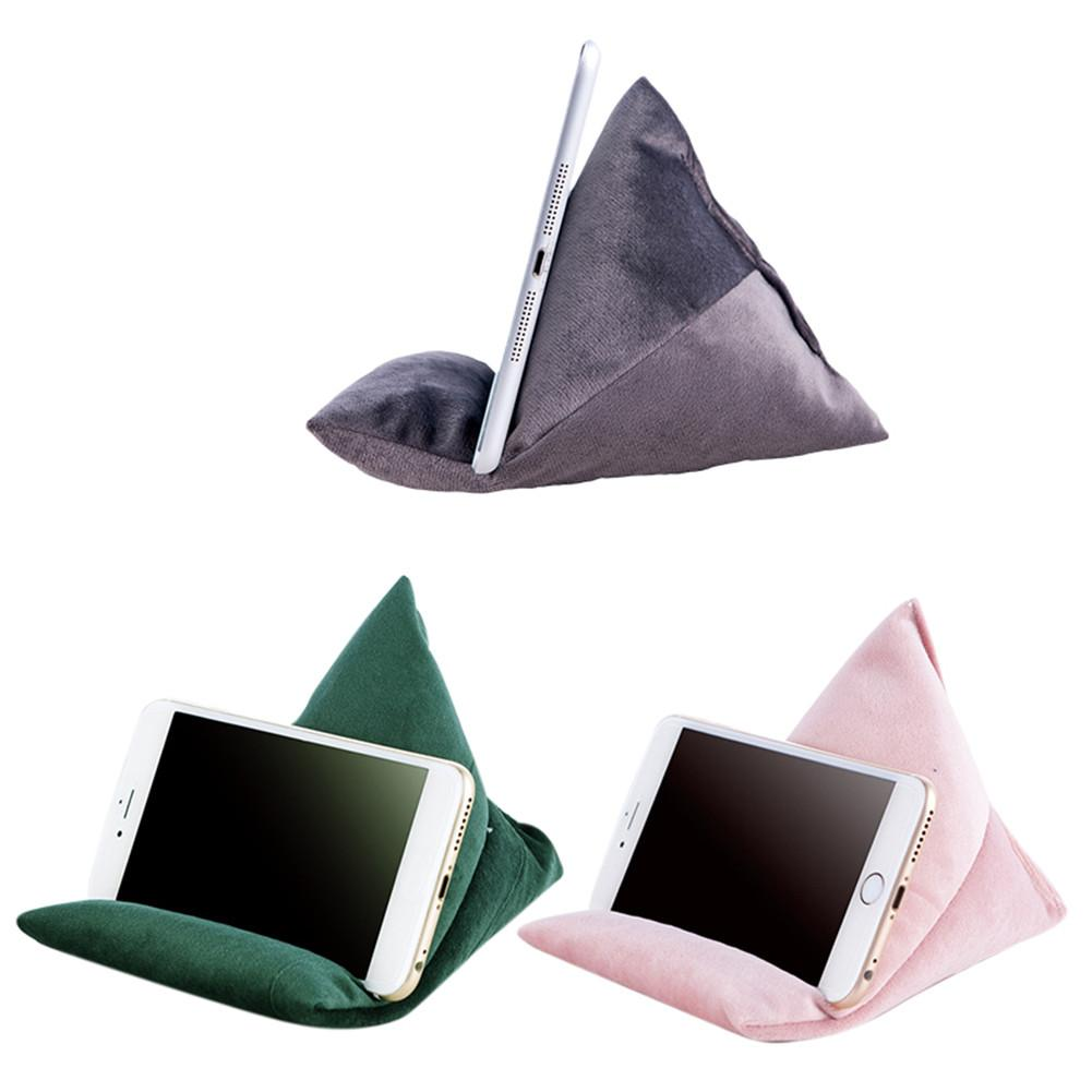 Tablet Pillow Phone Stand Holder Bed Floor Desk Sofa Couch Reading Multi-angle Soft Velvet Pillow
