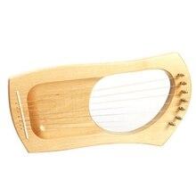 Супер-7 струнный деревянный Лира арфа Металл Твердый Деревянный струнный инструмент оркестровый музыкальный инструмент арфа