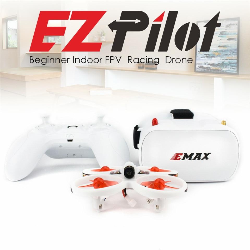 EMAX EZPilot 82mm Mini Drone de course FPV avec caméra CMOS 600TVL 4in1 ESC 1S 450mah 0816 moteur brossé RTF quadrirotor 5.8G lunettes
