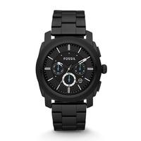 FOSSIL Machine Chronograph Black Stainless Steel Mens Watch Quartz Watch Luxury Pocket Watches 2019 FS4552