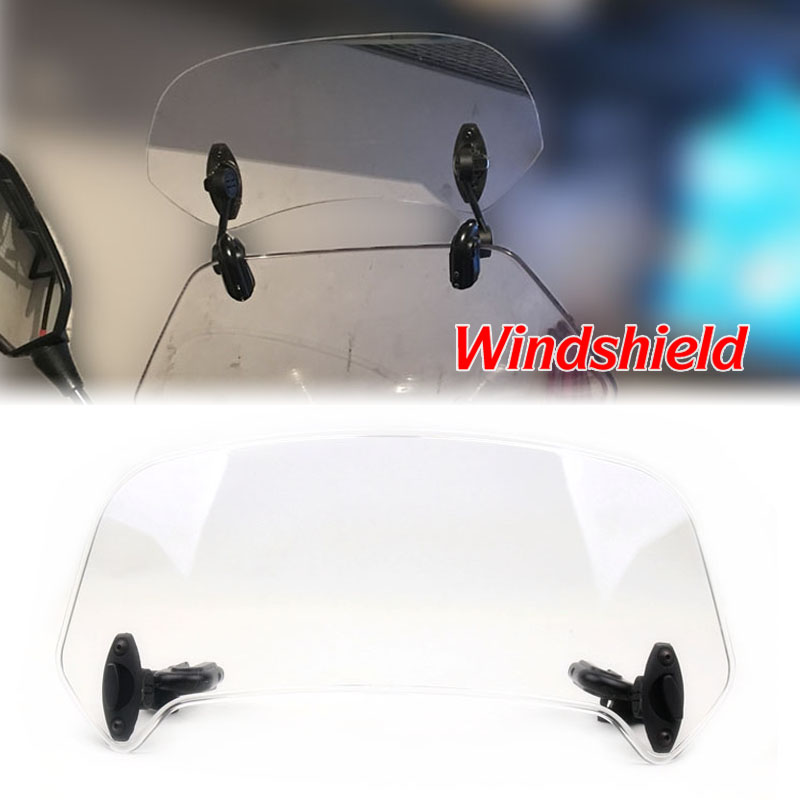 Adjustable Windscreen <font><b>Windshield</b></font> Extension Spoiler Wind Deflector Lockable For <font><b>SUZUKI</b></font> <font><b>SV650</b></font> SV1000 DL650 DL1000 V-strom B-KING image