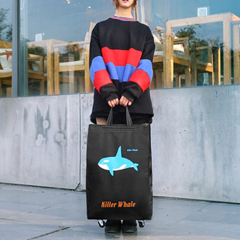 Портативная тележка для продуктов Женская Мужская сумка складная сумка тележка Сумка на колесах купить Сумка для овощей хозяйственная сумка трейлер XYLOBHDG
