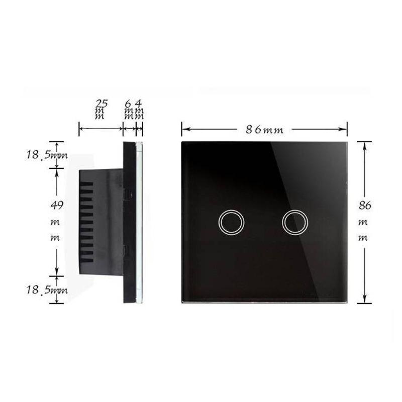 Сенсорный выключатель стандарт ЕС/Великобритании белая Хрустальная стеклянная настенная панель умный WiFi светодиодный светильник - 3
