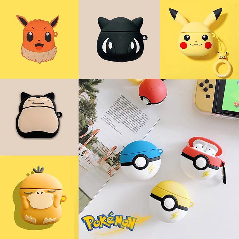 Funny Cartoon For Apple Airpods Case 3D Protective Cover Cute Bluetooth Earphone Case Fashion Soft Silicone Cases Headset Case