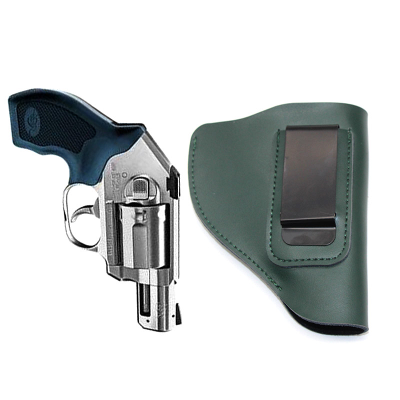 Tactical Gun Holster Revolver Airsoft Genuine Leather Revolver Case Carry Universal Concealed Belt Pistol Gun Pistol Carrier