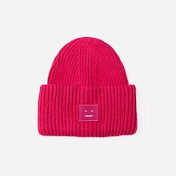 2020 New Acne unisex women's autumn and winter hats Angora100% double layer warm hat Skulies wool hat Warm knitted hat 10