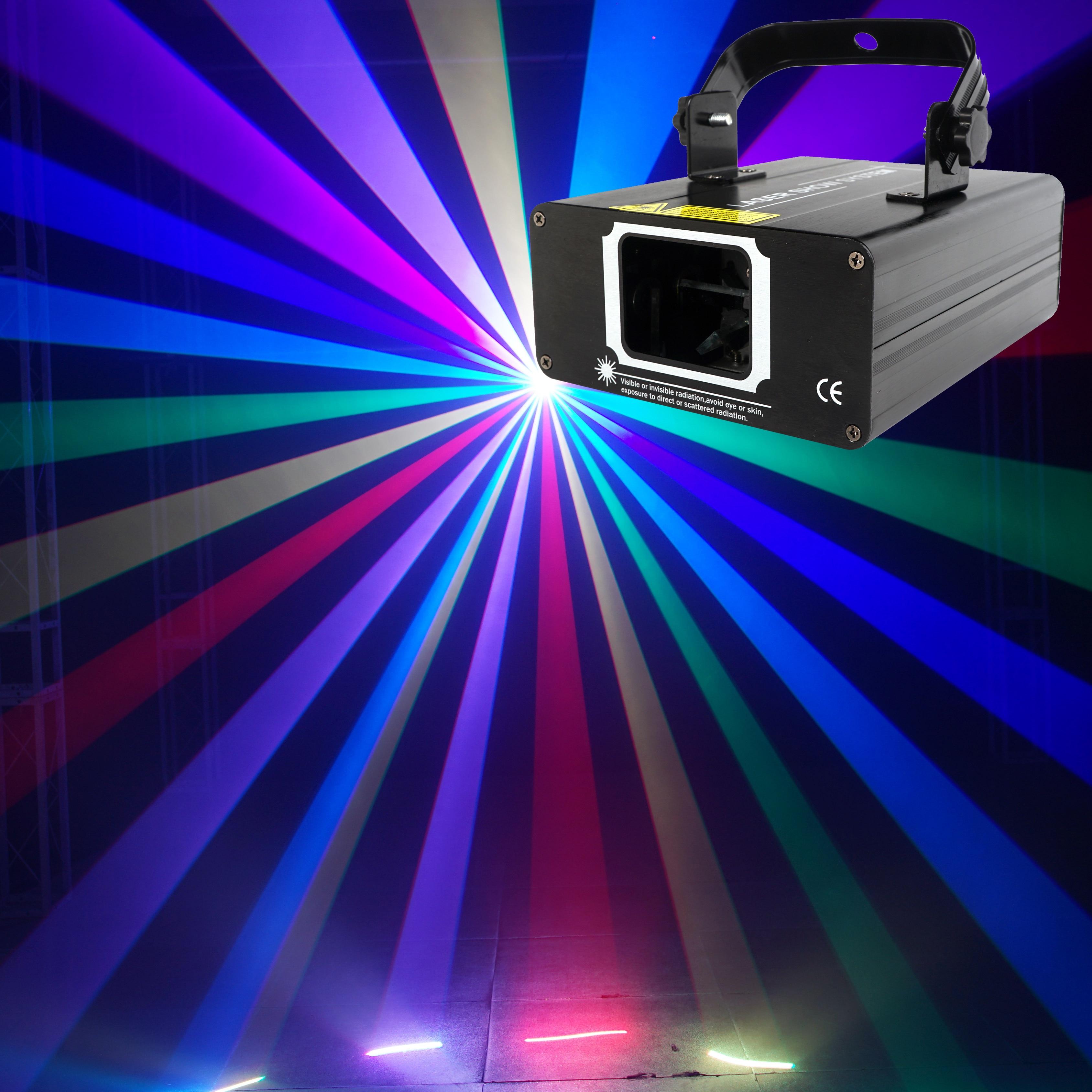 680 МВт RGB Цвет DMX светодиодный лучевой прожектор для сцены звуковая активация сканирование лазер музыка светильник Эффект диско ди-джей дома вечерние освещение сканера светильник Инж