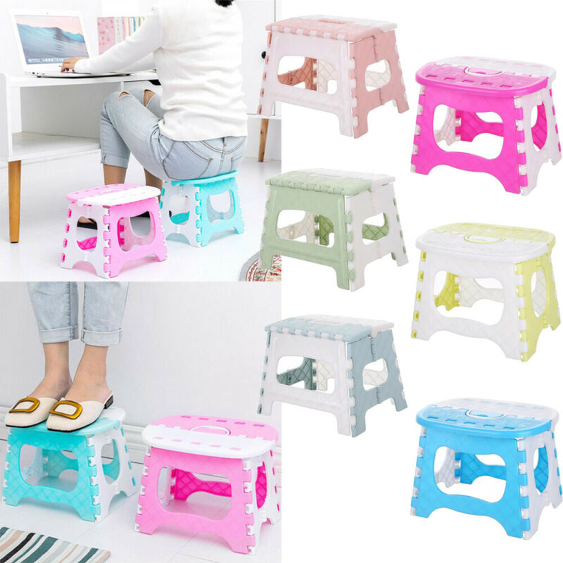 1PC Folding Stool Camping Chair Seat For Fishing Convenient Plastic Portable Step Stool Home Train Outdoor Indoor Foldable Chair