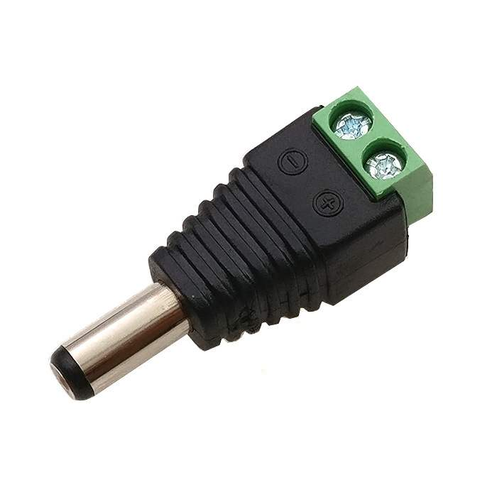 Hfb88197ee4984bd5958548ae2ed13d83P - 1pcs Female +1 pcs Male DC connector 2.1*5.5mm Power Jack Adapter Plug Cable Connector for Monitoring engineering power supply