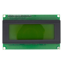 Free Shipping 5pcs 20x4 LCD Modules 2004 LCD Module with LED Yellow green Backlight White Character