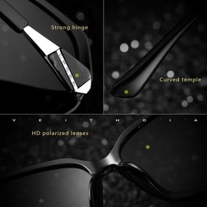 Image 2 - VEITHDIA TR90 damskie okulary przeciwsłoneczne spolaryzowane gradientowe szkła luksusowe damskie designerskie okulary przeciwsłoneczne okulary damskie 3171