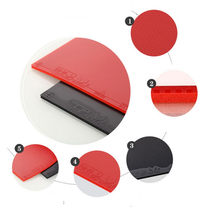 1PC Original Red/Black Semi Sticky Table Tennis Rubber Hard Sponge Ping Pong Rubber Fast Attack Red Pingpong Rubber Accessory