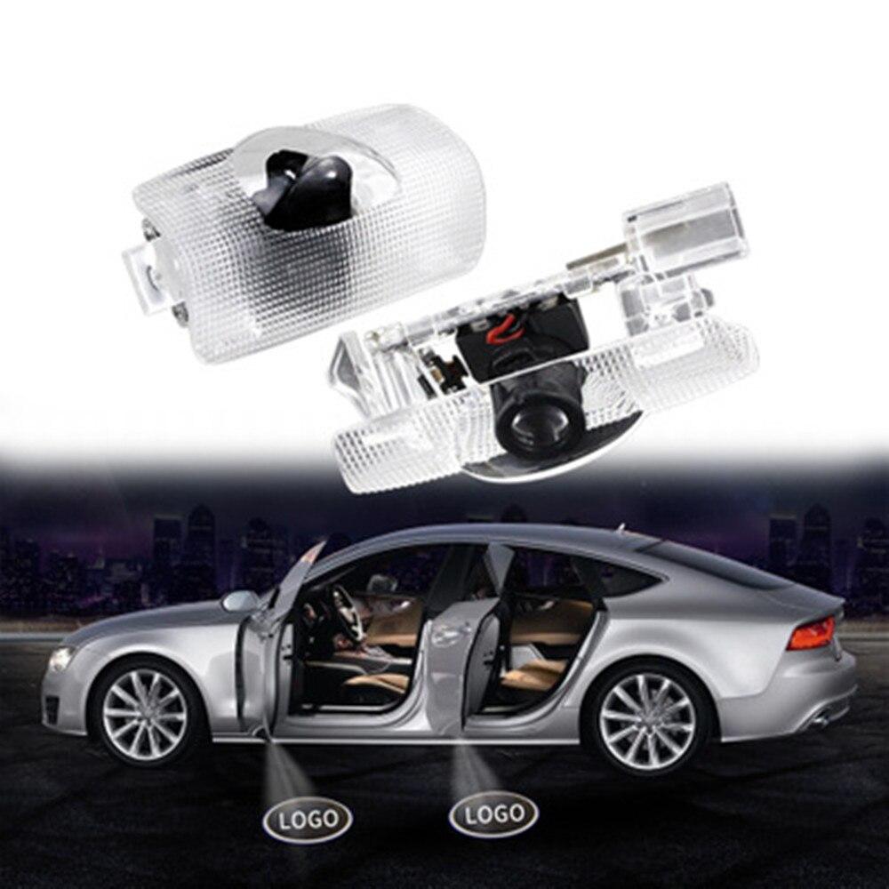 2Pcs LED Car Door Light Laser Logo Projector Lamp For Toyota Camry 40 50 70 V40 V50 V70 GT86 EZ Corolla E140 140 4 Runner N280
