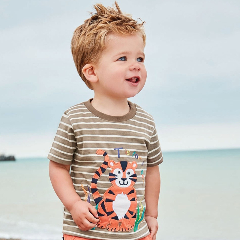Jumping meters Animals Summer Boys Girls T shirts Crabs Printed Cotton Baby Clothes Tees Boys Tops 5