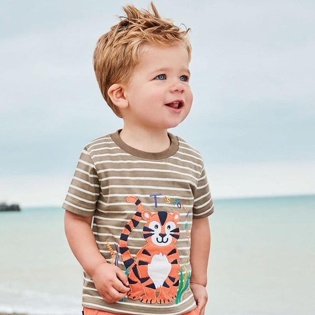 Crabs / Tiger / Crocodile Printed Cotton Baby's T-Shirt 5