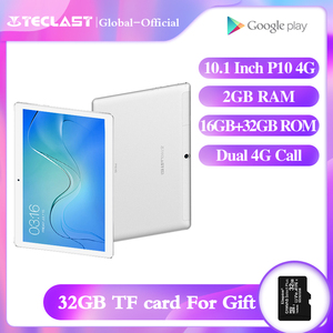 Teclast tablet P10 4G 10.1 Inch MTK6737 Quad Core Android 8.0 Tablet Dual 4G Phone call GPS 2GB RAM 16GB ROM Dual Camera Tablets