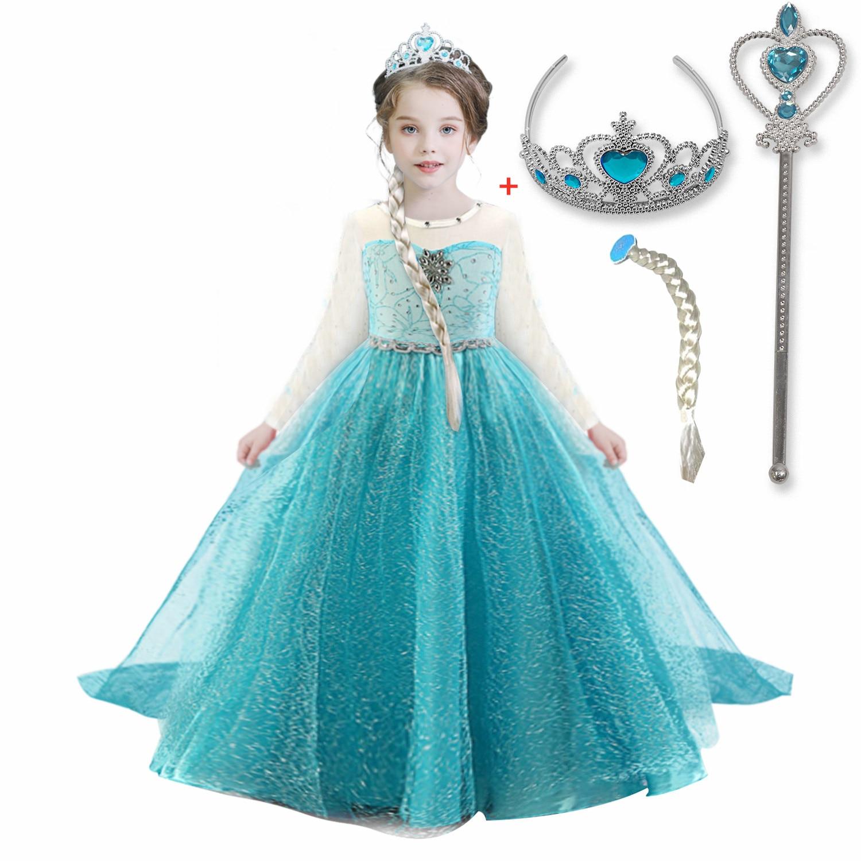 Girls Dress Party Princess Dress Cosplay Costumes Long Sleeve Halloween Children Dress Fancy Dress For Girls 10T Dresses  - AliExpress