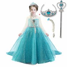 Girls Dress Party Princess Dress Cosplay kostiumy z długim rękawem Halloween sukienka dla dzieci przebranie dla dziewczynek 10T tanie tanio NNJXD Poliester Wiskoza CN (pochodzenie) Kostek O-neck Dziewczyny REGULAR Pełna Nowość Pasuje prawda na wymiar weź swój normalny rozmiar
