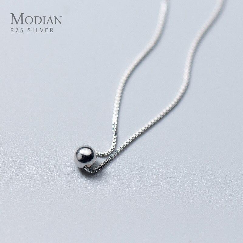 Modian Модный маленький простой кулон в виде флакона, новая распродажа, 100% стерлингового серебра 925 пробы, круглые украшения для женщин и девочек, вечерние подарки|Ожерелья|   | АлиЭкспресс