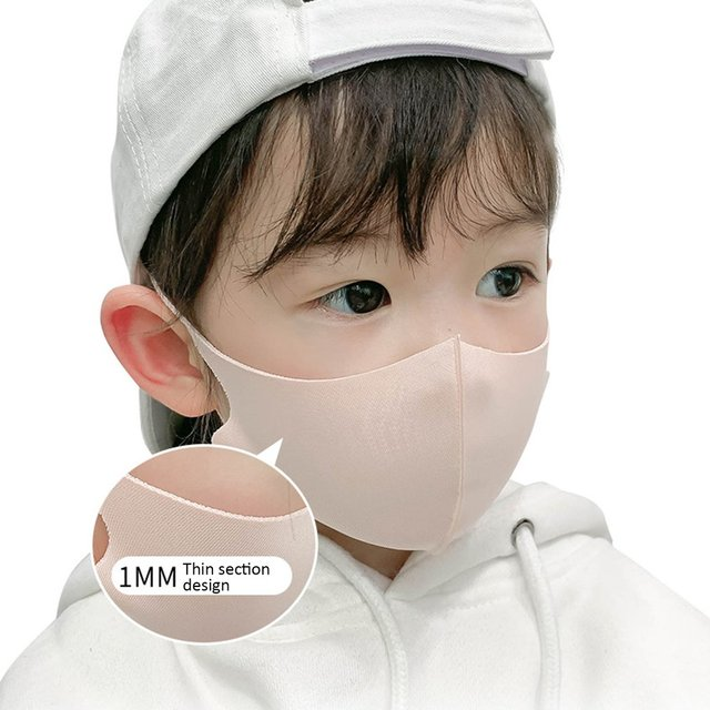 10pcs Three-dimensional thick protective mask breathable children's mask mouth mask anti dust proof flu face masks for child 2