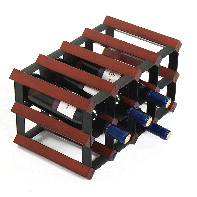 Wooden Wine Rack Decoration Standardization European Wine Creative Display Rack Wine Display Rack Living Room Home Wine Rack