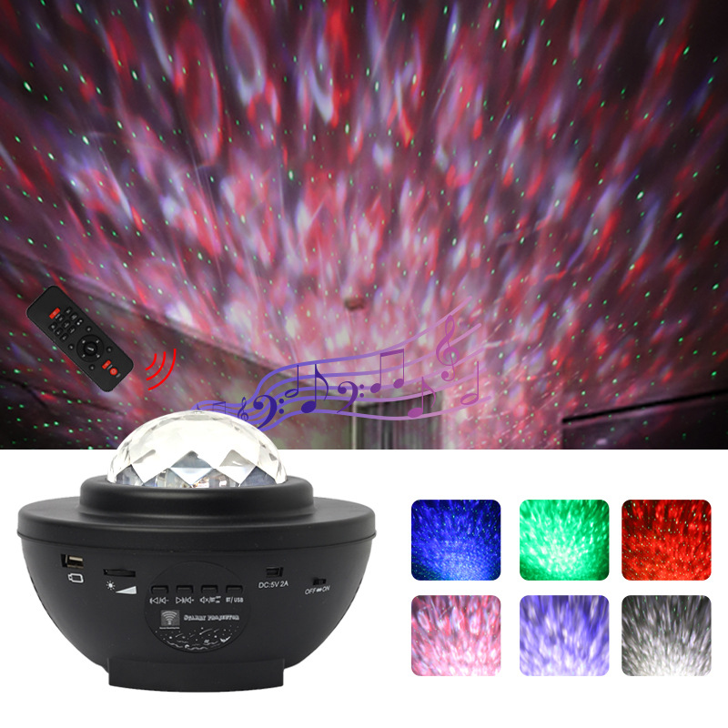 Colorful Starry Sky Galaxy Projector Nightlight Blueteeth Usb Music Player Star Night Light Romantic Projection Lamp Gifts