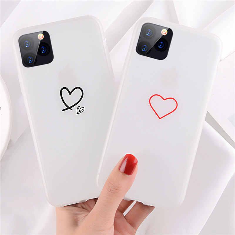 Lovebay para iPhone 11 luminosa amor, corazón, estrellas para iPhone 11 Pro X XR XS Max 7 7 6 6s Plus planeta claro suave de la cubierta del teléfono