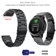 YOOSIDE 22mm QuickFit Fenix 6 Metal Stainless Steel Watch Band Strap for Garmin Fenix 5/5 Plus/Instinct/Forerunner 935 Wristband