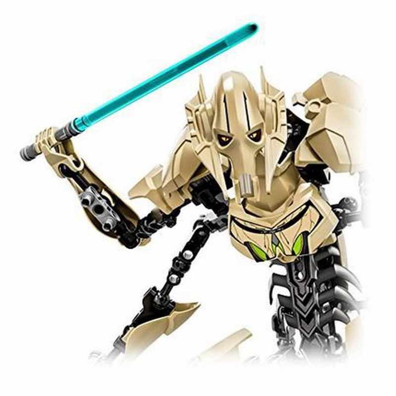 Звездные войны битва дроид генерала гривус с световыми мечами модель строительные блоки Фигурки игрушки для детей