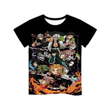 3d teenager girls/boys funny t shirt hot anime demon slayer