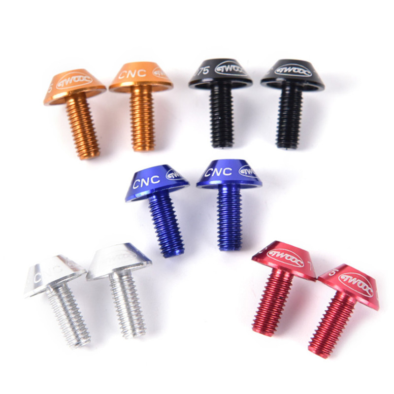 2pcs Bicycle Water Bottle Holder Mount <font><b>Bolts</b></font> <font><b>M5</b></font>*<font><b>10mm</b></font> aluminium alloy Screw Bike Bottle Holder Screw image