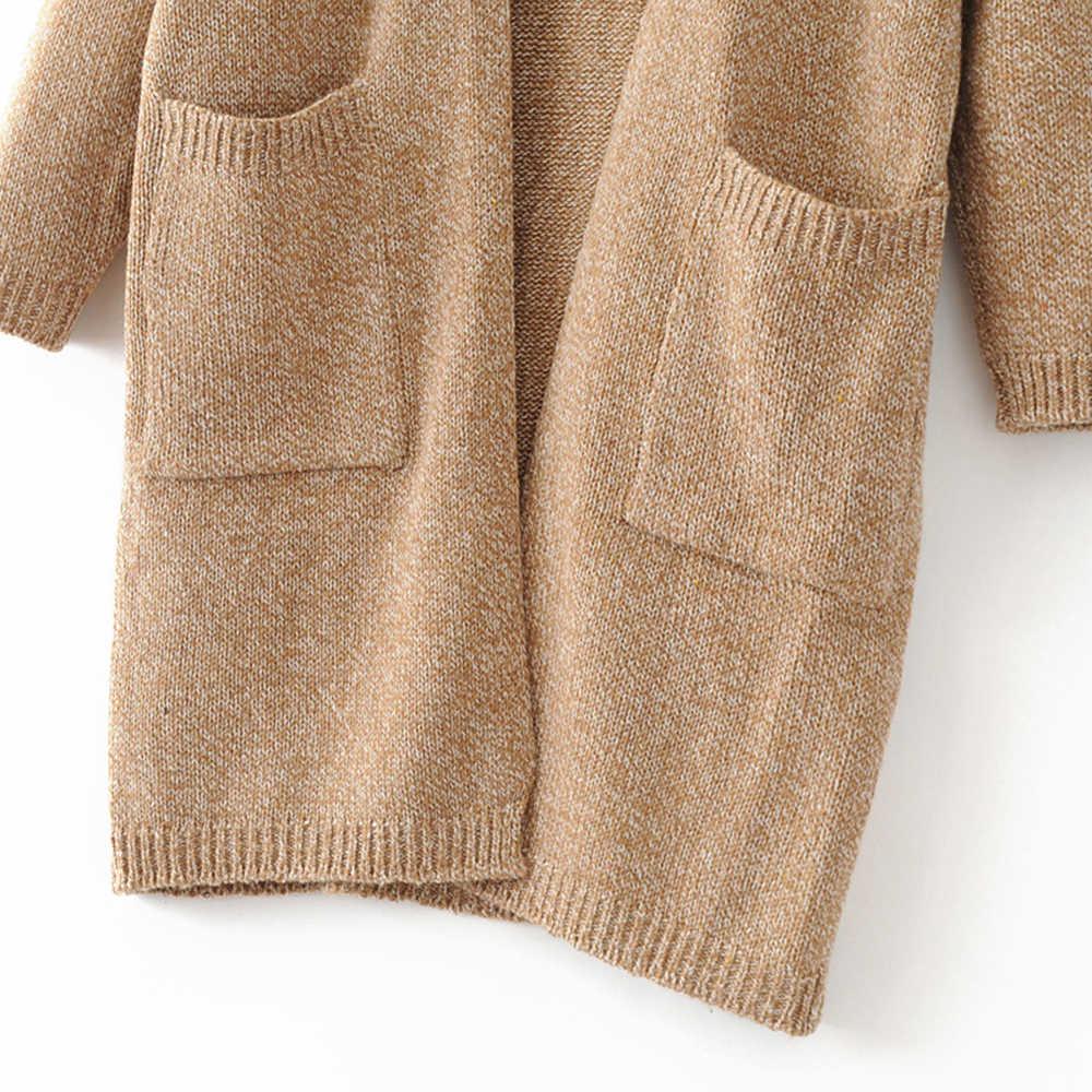 Женский вязаный свободный жакет с длинным рукавом свитер Кардиган Верхняя одежда модный негабаритный свитер Топы пальто Женская Повседневная Уличная куртка