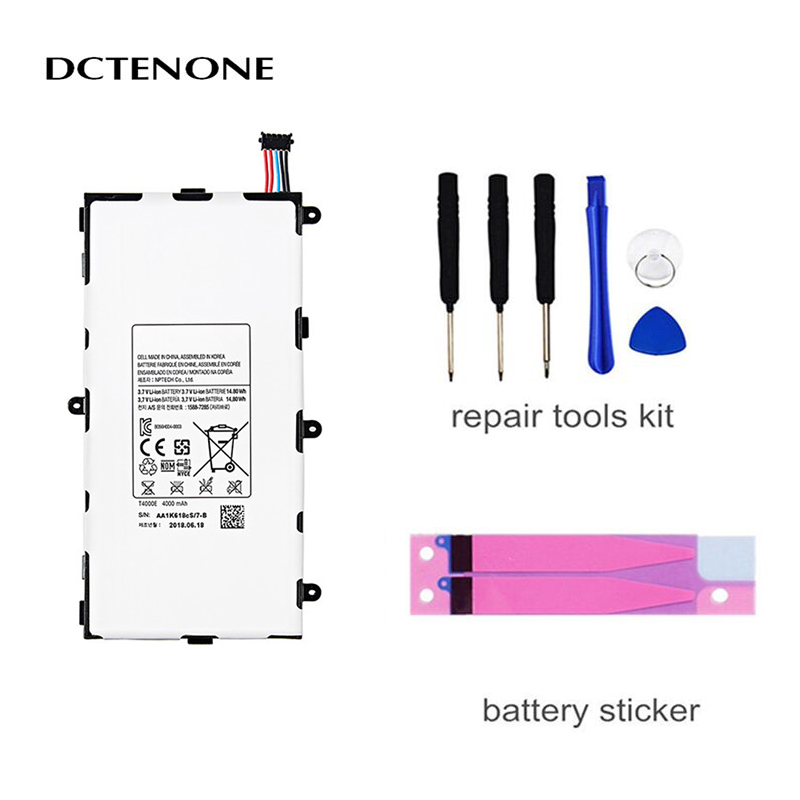 DCTENONE 1x 4000mAh <font><b>T4000E</b></font> Replacement Battery For Samsung Galaxy Tab Tablet 3 7.0 T211 T210 T215 T210R T217A SM-T210R T2105 P32 image
