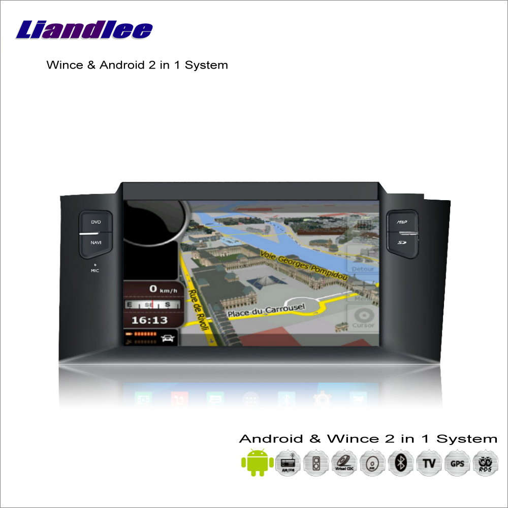 Liandlee For <font><b>Citroen</b></font> <font><b>C4</b></font> / C4L / DS4 2011~2014 Car Radio CD DVD Player GPS Navigation Advanced Wince & <font><b>Android</b></font> 2 in 1 S160 System image