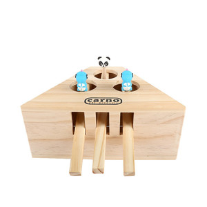 Image 4 - Aapet Wooden Pet Toy Wooden Whack Mole Mouse For Cat Interactive Punch Toy Whac A Mole Cat Kitty Funny Toy Mouse Chasing Gaming