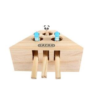 Image 4 - Aapet drewniana zabawka dla zwierząt drewniana mysz dla kota interaktywna zabawka dla kota whac a mole Cat Kitty zabawna zabawka dla myszy ściganie gier