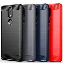 Para nokia 2.4 caso para nokia 2.4 capa de fibra de carbono estilo à prova de choque macio silicone volta protetor do telefone pára para nokia 2.4