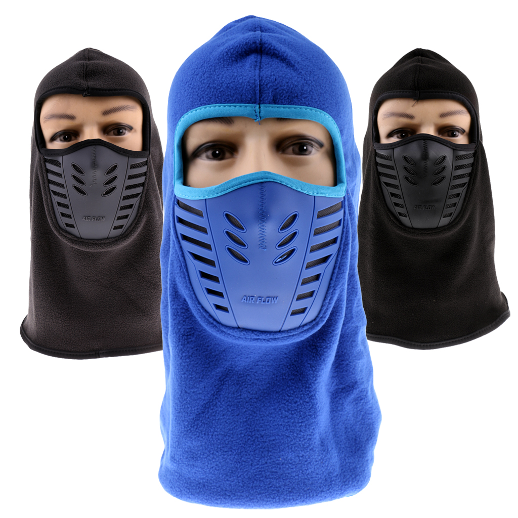 Winter Fleece Balaclava - Windproof Mask Adjustable Face Head Warmer For Skiing, Cycling, Motorcycle Outdoor Sports