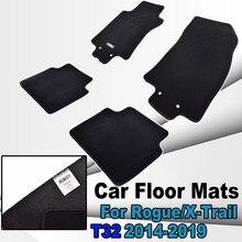 Uds alfombra del coche esteras para Nissan Rogue X-Trail Xtrail de T32 2014 - 2019 alfombra de Nylon forro delantero trasero 2015, 2016, 2017, 2018