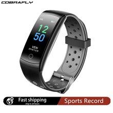Cobrafly Q8 inteligentny zegarek mężczyźni kobiety pulsometr IP68 wodoodporny zespół Fitness Tracker zegarki dla Xiaomi Huawei Apple telefon