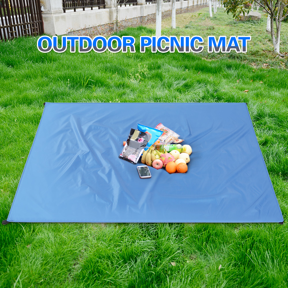 Beach Mat  Outdoor Camping Mat Mother And Baby Blanket Pocket Canvas Lawn Mat Series Family Picnic Mat Waterproof And Sandproof