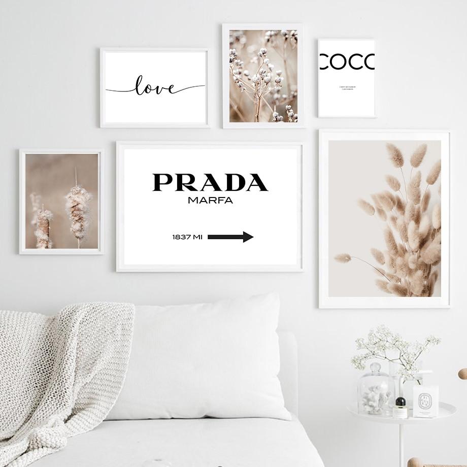 Кролик хвост трава тростник розы влюбленные цитаты настенная живопись на холсте скандинавские постеры и принты настенные картины для деко...