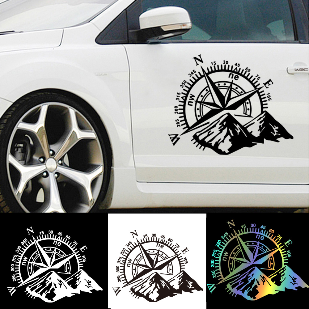 Hot Sale Mountain Compass Car Sticker Funny Vinyl Wrap Car-Styling Decals For Auto Window Motorcycle Decor наклейки на авто