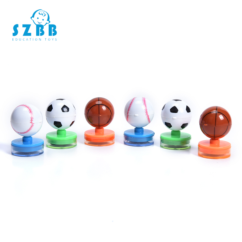 SZ STEAM Children Toy Stamps Cartoon Football Stamps Kids Seal For Scrapbooking Stamper DIY Cartoon Stamper Toys
