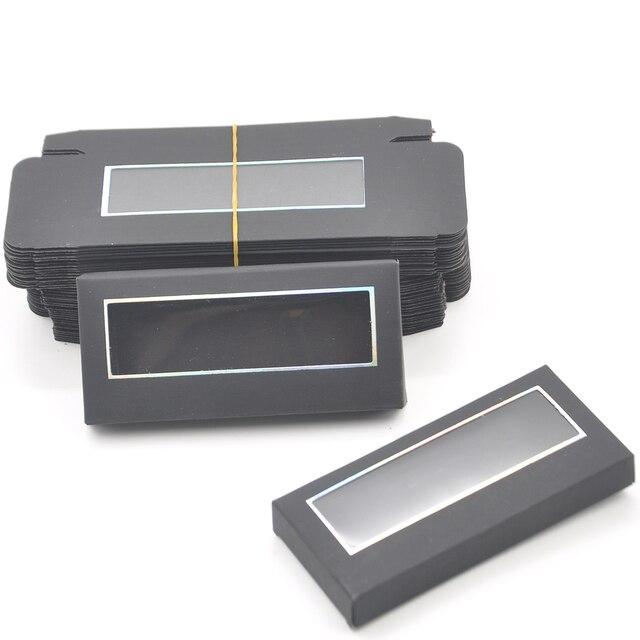 Wholesale Eyelash Packaging Box Lash Boxes Package Custom Without Tray Dark Pink Rectangle Cardboard Makeup Storage Case Vendor 6