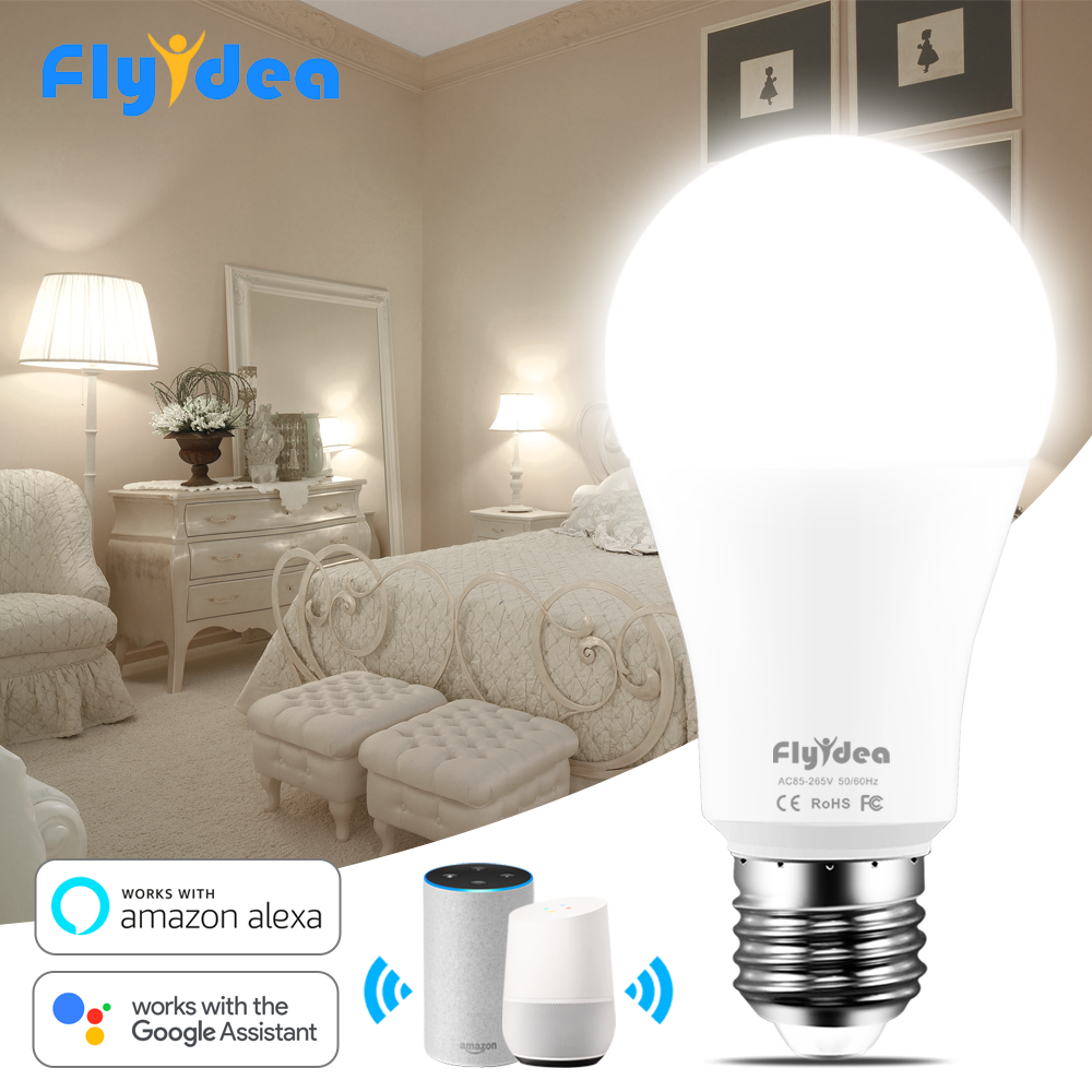 15W Smart Bulb E27 Dimmable Wifi LED Light 110V 220V APP Voice Control Smart Lamp with Alexa and Google Assistant Wake up Light